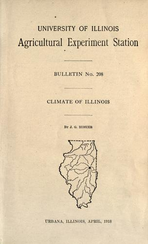 Climate of Illinois by J. G. Mosier