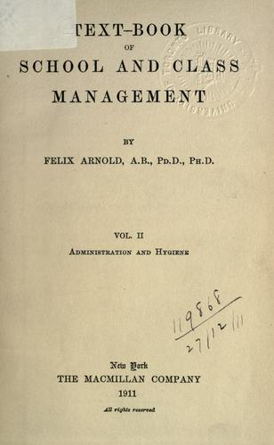 Text-book of school and class management.