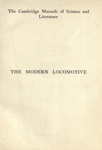 The modern locomotive by Clarence Edgar Allen
