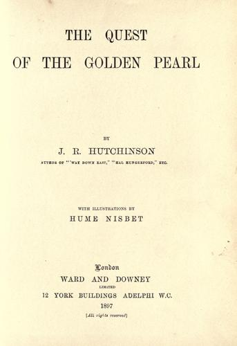 The quest of the golden pearl by