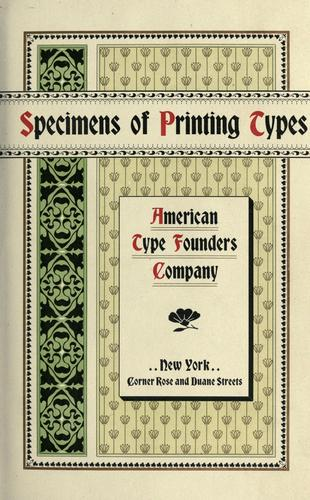Specimens of printing types by American Type Founders Company.