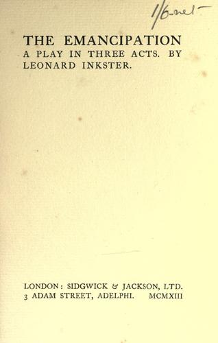 The emancipation by Leonard Inkster
