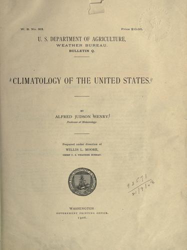 Climatology of the United States by Alfred Judson Henry